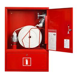 Hydrant wewnętrzny DN52 zawieszany z miejscem na gaśnicę 4kg